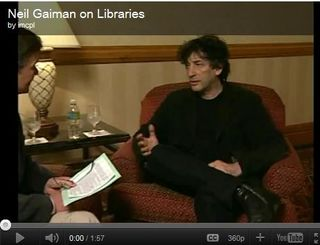 Neil Gaiman - chair Nat lib wk 2011