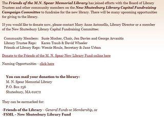 Spear Library, Shutesbury MA