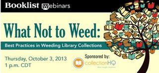 Booklist Webinar Weed